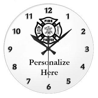 Brandmannen avfyrar avdelnings-symbol stor klocka
