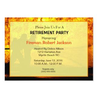 Brandmannen/avfyrar högsta pensioninbjudan 12,7 x 17,8 cm inbjudningskort