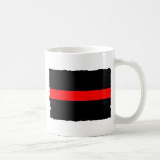 Brandmannen gör röd linje tunnare kaffemugg