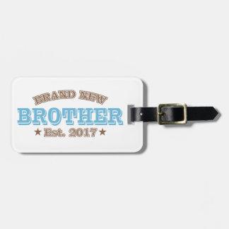 Brandnew broder Est. 2017 (blått) Bagagebricka