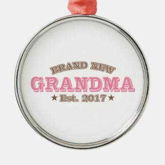 Brandnew mormor Est. 2017 (rosor) Julgransprydnad Metall