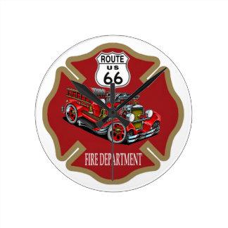 Brandstationen för rutt 66 tar tid på rund klocka