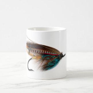 Brännhet brun laxflugamugg kaffemugg
