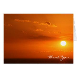 Brännhet varm orange solnedgång, Lake Michigan OBS Kort