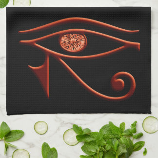 Brännhett öga av den Horus kökshandduken Kökshandduk