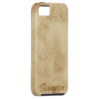 Brännmärkt skräddarsy mobilt fodral för QUENTIN iPhone 5 Skal