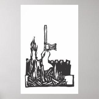 Bränt på insatsen print
