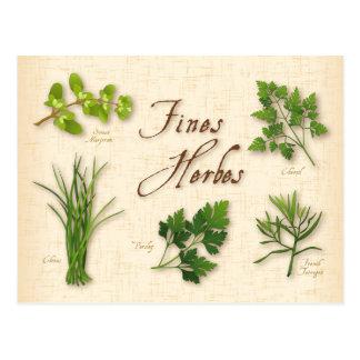 Braörter recept, Parsley, gräslökar, dragon, Vykort