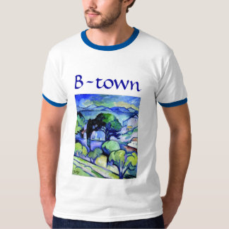 Braque-Town i blått Tee Shirts