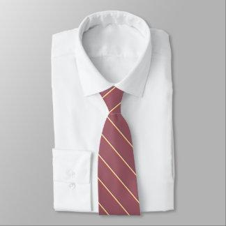 Brarandar på röda burgundy slips