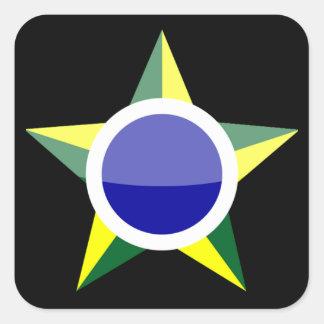 Brasil Fyrkantigt Klistermärke