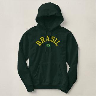 Brasil Hoodie - Força Brasil! Broderad Luvtröja