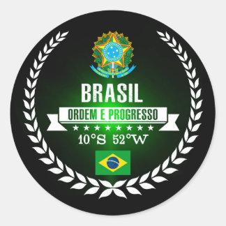 Brasil Runt Klistermärke