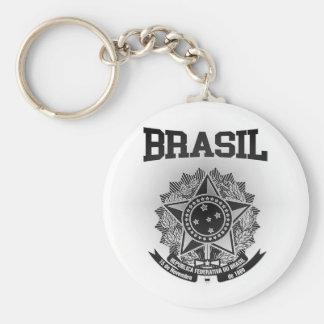 Brasil vapensköld rund nyckelring