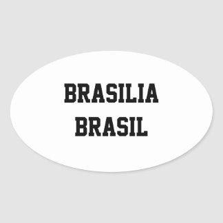 Brasilia Brasil ovalklistermärkear Ovalt Klistermärke