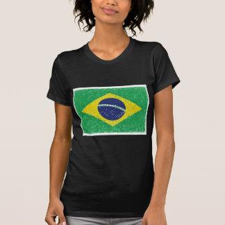 Brasilian för Brasilien flagga*Hand-sketch* T Shirt