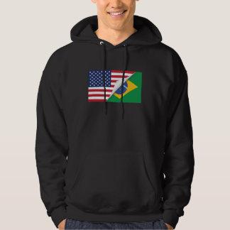 Brasiliansk amerikanska flaggan sweatshirt
