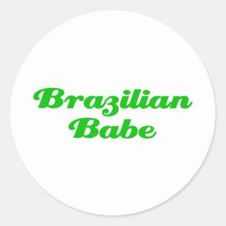 Brasiliansk Babe Runt Klistermärke