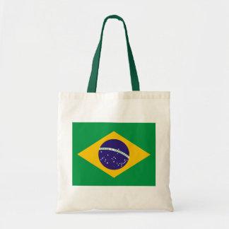 Brasiliansk flagga budget tygkasse