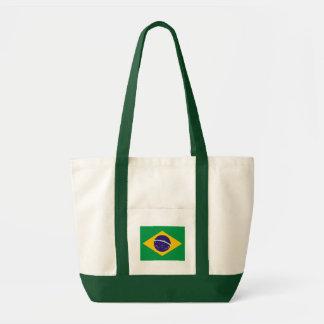 Brasiliansk flagga tote bags