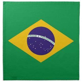 Brasiliansk flagga på den MoJo servetten Näsdukar