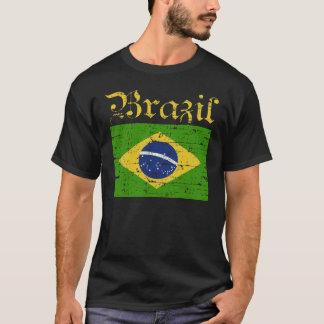 Brasiliansk flaggat-skjorta t-shirts