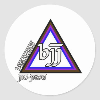 Brasiliansk Jiu Jitsu BJJ triangel av framsteg Runt Klistermärke