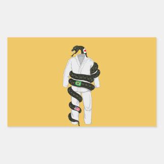 Brasiliansk Jiu Jitsu orm Rektangulärt Klistermärke