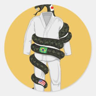 Brasiliansk Jiu Jitsu orm Runt Klistermärke