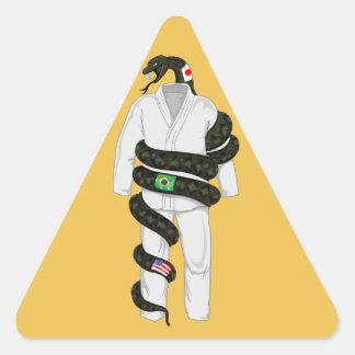 Brasiliansk Jiu Jitsu orm Triangelformat Klistermärke