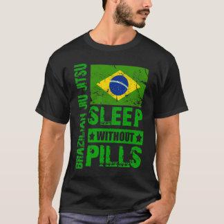 Brasiliansk Jiu Jitsu- sömn utan PillsT-tröja T-shirts