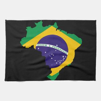 Brasiliansk landflagga kökshandduk