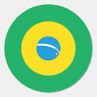 Brasiliansk modrundaklistermärke runt klistermärke