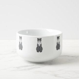 Brasiliansk Shorthair katttecknad Stor Kopp För Soppa