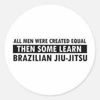 Brasilianska Jiu Jitsu designer Runt Klistermärke