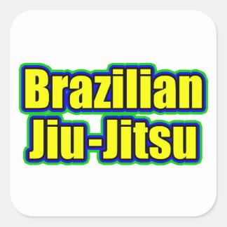 Brasilianska Jiu Jitsu Fyrkantigt Klistermärke