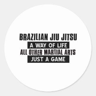 Brasilianska Jiu Jitsu gåvor Runt Klistermärke