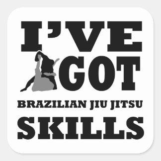 Brasilianska Jiu Jitsu kampsportdesigner Fyrkantigt Klistermärke