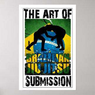 Brasilianska Jiu JItsu - konst av Poster