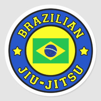 Brasilianska Jiu Jitsu Runt Klistermärke