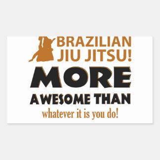 Brasilianska objekt för Jiu Jutsu kampsportgåva Rektangulärt Klistermärke