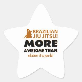 Brasilianska objekt för Jiu Jutsu kampsportgåva Stjärnformat Klistermärke