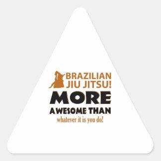 Brasilianska objekt för Jiu Jutsu kampsportgåva Triangelformat Klistermärke