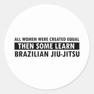Brasilianska objekt för jiujitsugåva runt klistermärke