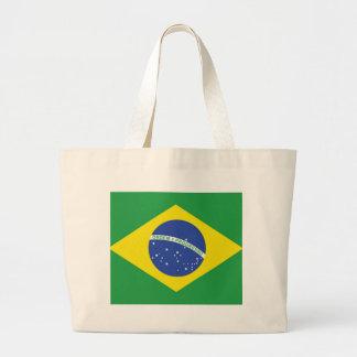 Brasilien flagga jumbo tygkasse