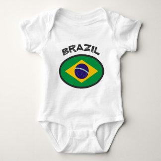 Brasilien flagga - kall design! t-shirt