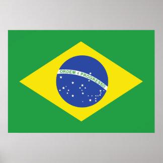 Brasilien flagga poster