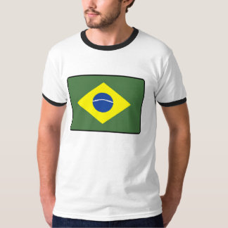 Brasilien flagga tee