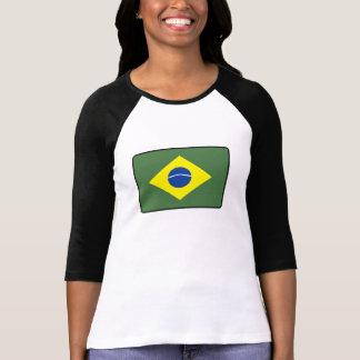 Brasilien flagga tee shirt