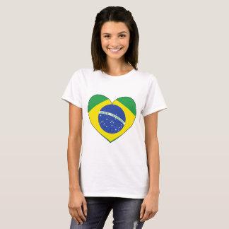 Brasilien flaggahjärta t-shirt